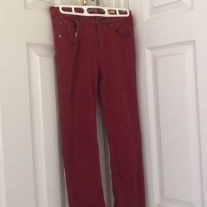 Red Denim Skinny Jeans